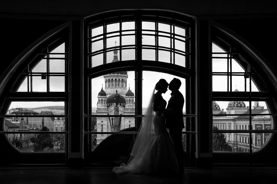silhouette wedding