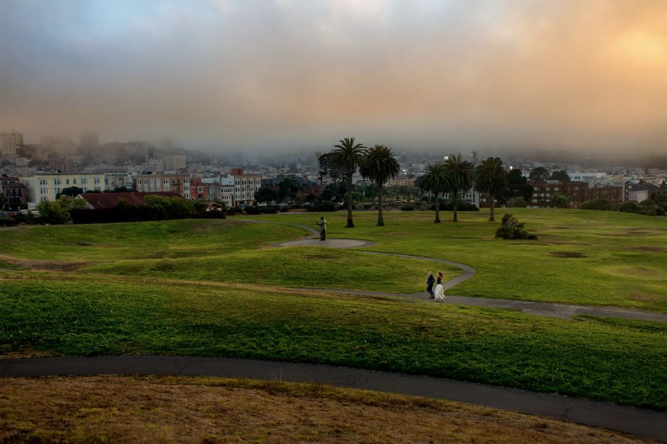17 - San Francisco park wedding sunset