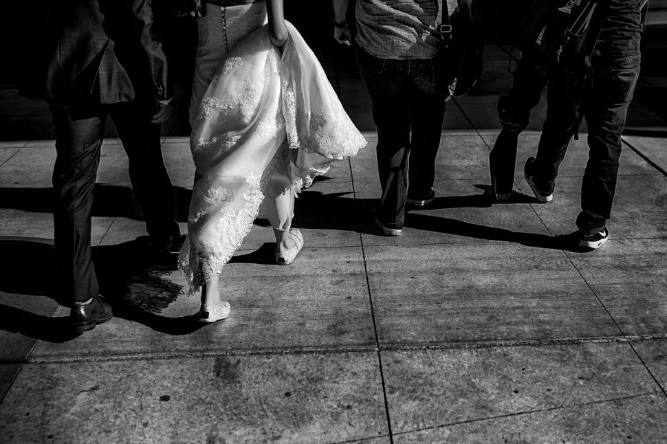 18 - San Francisco wedding streets wedding couple walking